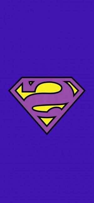 紫色背景的超人标志