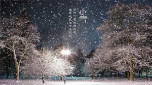 小雪节气之森林风景文字图片壁纸