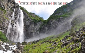 2020年11月壮丽的瀑布美景日历壁纸