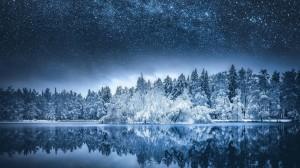 绝美湖泊自然风光电脑壁纸