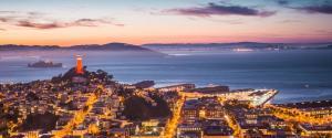 科伊特塔 恶魔岛 旧金山湾 晚上风景壁纸