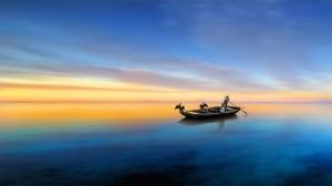 绝美湖畔风景高清桌面壁纸