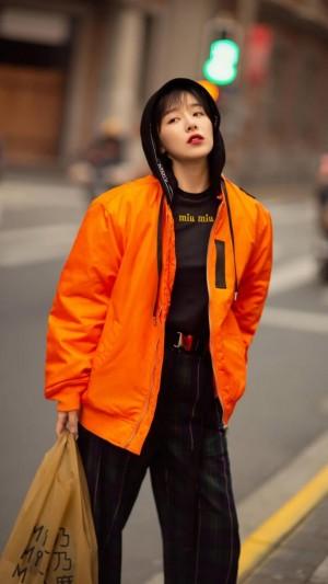 阚清子时尚酷美街拍