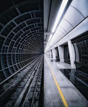 科幻感的莫斯科地铁站