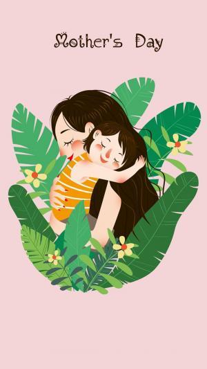 母亲节图片卡通可爱表情手机壁纸