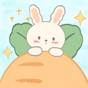 兔兔卡通头像太可爱了吧