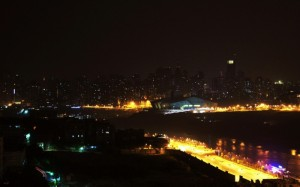 晚安城市灯光