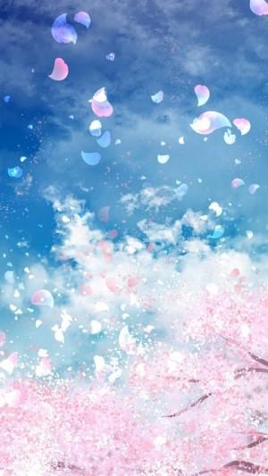 二次元中美炸了的樱花场景