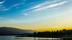 江苏阳羡湖黄昏唯美风景图片桌面壁纸