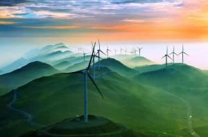 齐岳山风车场唯美图片