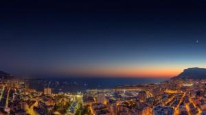 高空俯视城市夜景高清桌面壁纸