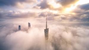 广州最唯美迷人的云上自然景色