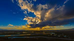 巴音布鲁克草原夕阳美景高清桌面壁纸