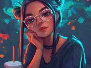 可爱另类的卡通女生头像