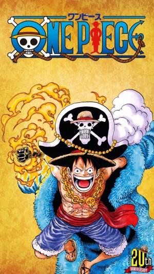 《海贼王》20周年典藏版封面手机壁纸