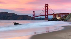 美国旧金山金门大桥风景壁纸