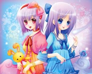 双子座可爱动漫插画图片