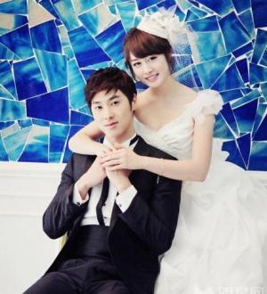 樸智妍清純唯美婚紗寫真