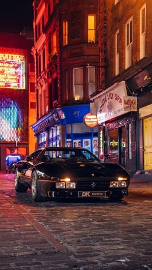 超酷炫跑车夜景唯美图片手机壁纸