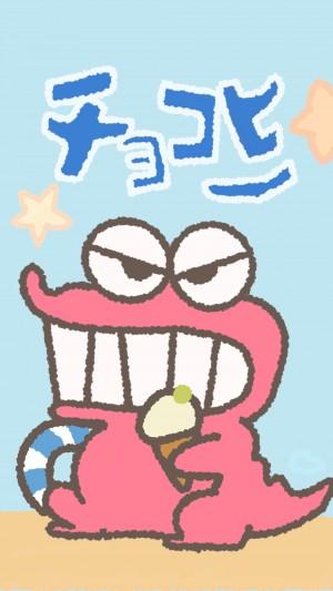蠟筆小新鱷魚小餅干可愛手機壁紙