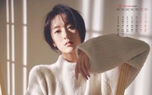 2019年12月袁冰妍时尚魅力气质写真日历壁纸