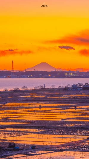 火红的夕阳唯美摄影壁纸