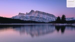 2020年3月宁静的湖泊写真日历
