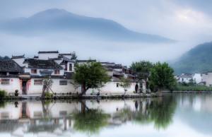 宏村唯美风景图片