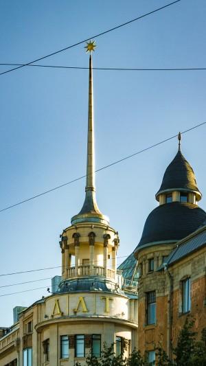 圣彼得堡独特建筑手机壁纸