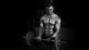 健身房健硕型男运动高清桌面壁纸
