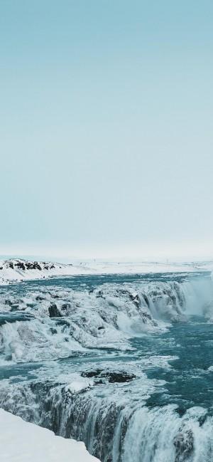 冰雪覆盖的风景高清手机壁纸