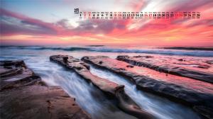 2019年2月绝美海滨风光高清日历壁纸