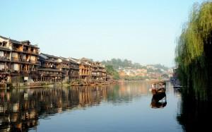 湖南凤凰古镇秀美景色照片