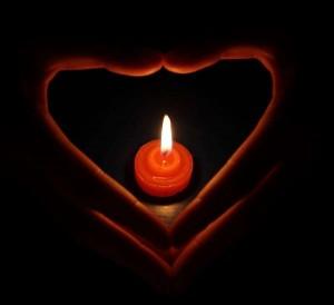 祈福的蜡烛