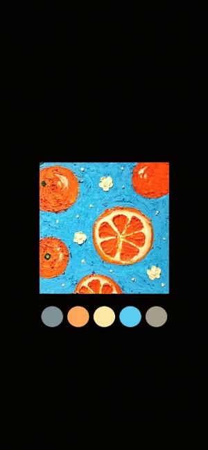 小清新手绘水果简约插画手机壁纸