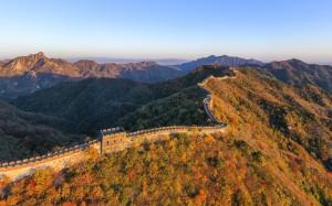 秋日慕田峪长城唯美风景高清桌面壁纸