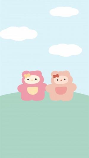 卡通萌趣创意可爱小熊插画手机壁纸 第一弹
