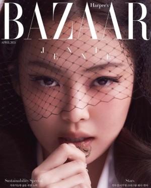 Jennie韩版芭莎封面