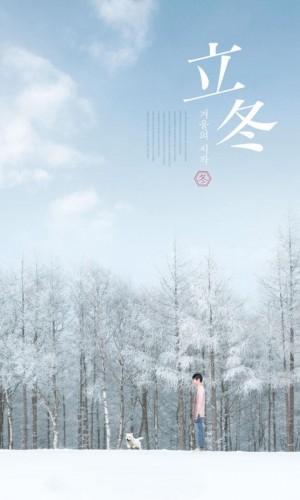 立冬之白色的树林