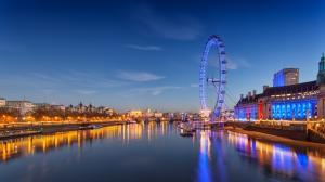 伦敦摩天轮风景壁纸