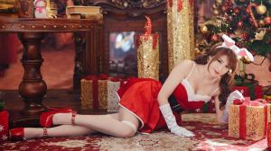 美女性感圣诞装图片