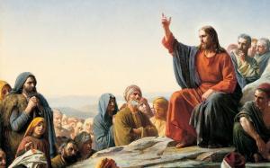 耶稣传教古典人物油画