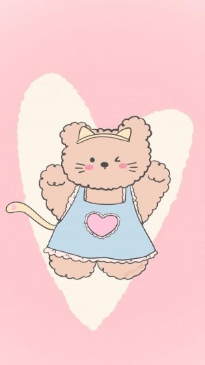 可爱萌系卡通小熊图片手机壁纸