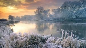 迷人清晨日出风景图片桌面壁纸