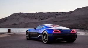 蓝色电动超级跑车图片