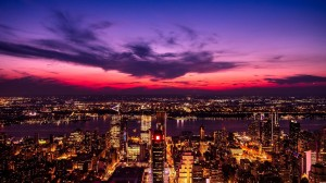 绚丽华灯的城市夜景