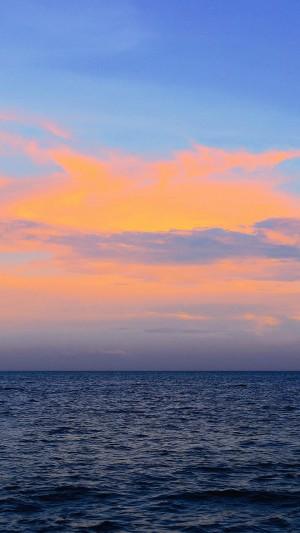 黄昏下的大海唯美风景写真