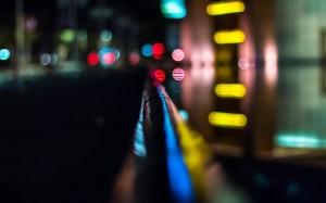 唯美朦胧炫彩的光影夜景桌面壁纸