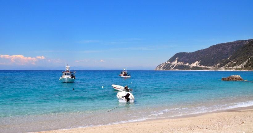 清新亮丽自然海滩美景