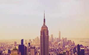 纽约帝国大厦雄伟高清桌面壁纸